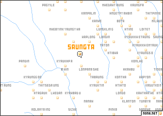 map of Saungta