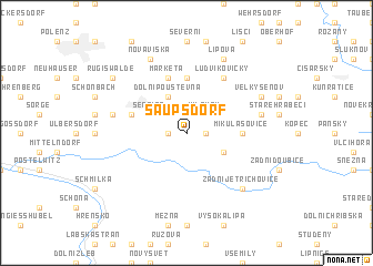 map of Saupsdorf