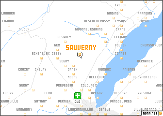 map of Sauverny