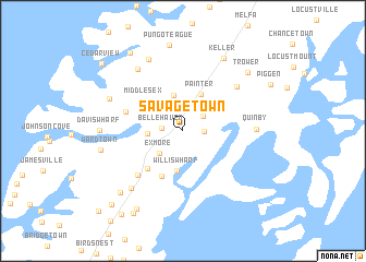 map of Savage Town