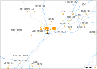 map of Savalan