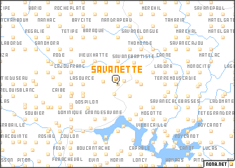map of Savanette