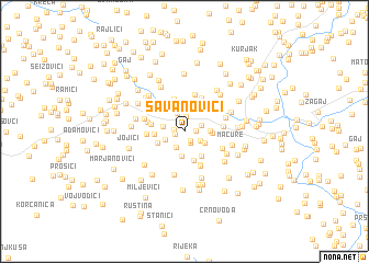 map of Savanovići