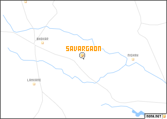 map of Sāvargaon