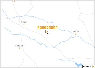 map of Sāvargaon