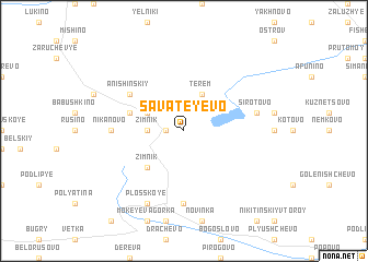 map of Savateyevo