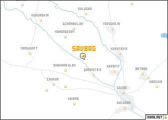 map of Savbag