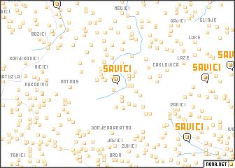 map of Savići