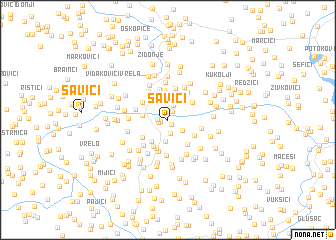 map of Savići