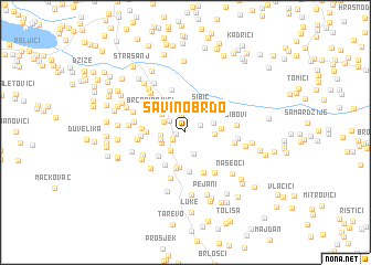 map of Savino Brdo