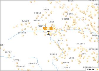 map of Savnik