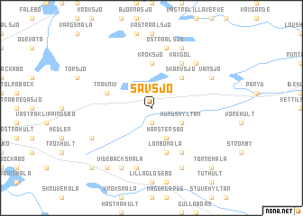 map of Sävsjö