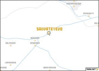 map of Savvateyevo