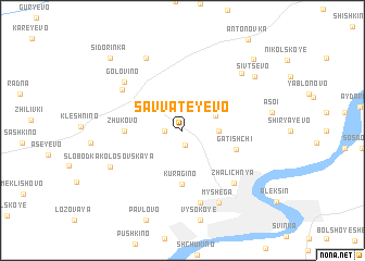 map of Savvateyevo