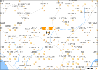 map of Sawapu