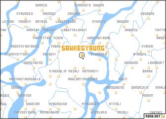 map of Sawkegyaung