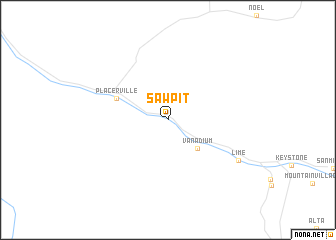 map of Sawpit