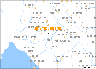 map of Sayyid Jabbār