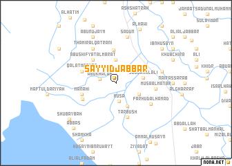 map of Sayyid Jabbār