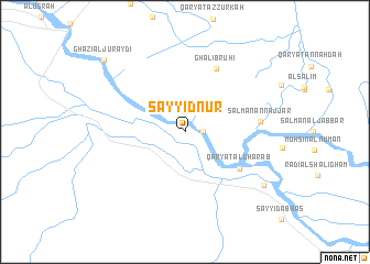 map of Sayyid Nūr