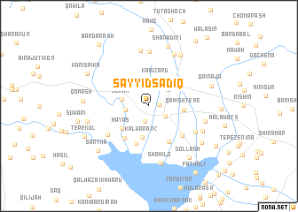 map of Sayyid Şādiq