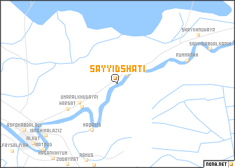 map of Sayyid Shāţi'