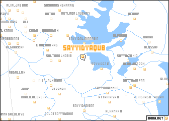 map of Sayyid Ya'qūb