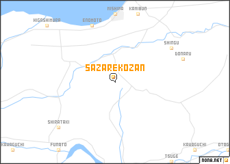 map of Sazarekōzan