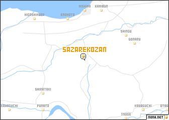 map of Sazarekōzan
