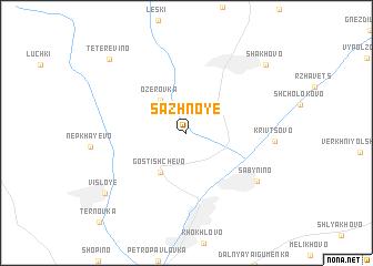 map of Sazhnoye