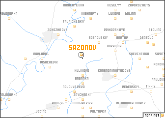 map of Sazonov