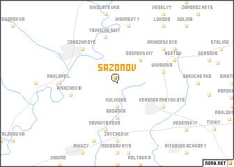map of Sazonov