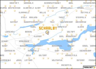 map of Schaalby