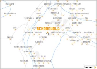 map of Schaanwald