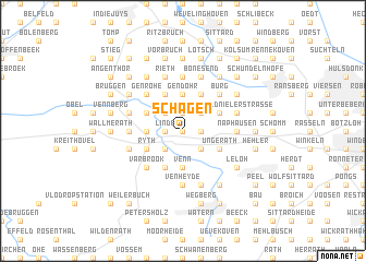 map of Schagen