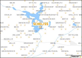 map of Schaliß