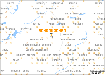 map of Schandachen