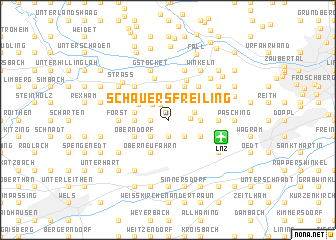 map of Schauersfreiling