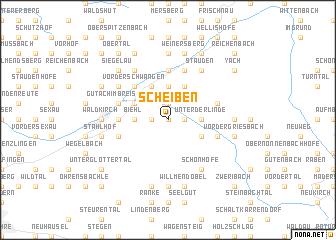 map of Scheiben