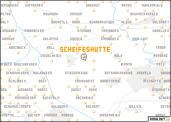 map of Scheifeshütte