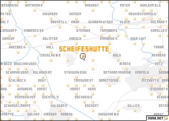map of Scheifeshütte