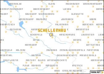 map of Schellerhau