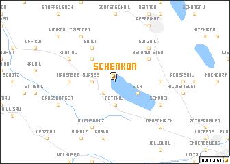 map of Schenkon