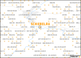 map of Schiebelau