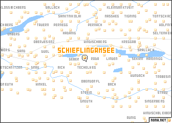 map of Schiefling am See
