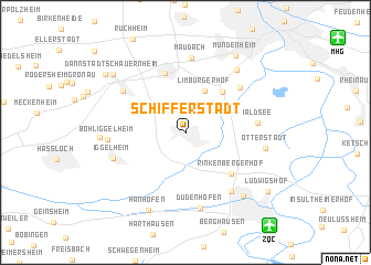 map of Schifferstadt