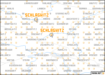 map of Schlagwitz