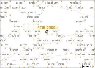 map of Schlankau