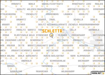 map of Schletta