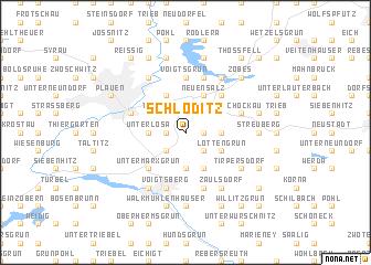 map of Schloditz